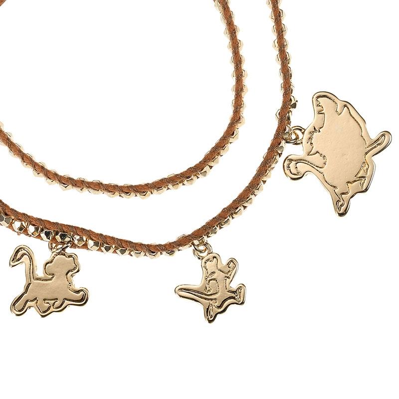 シンバ、プンバァ、ティモン ブレスレット THE LION KING Collection