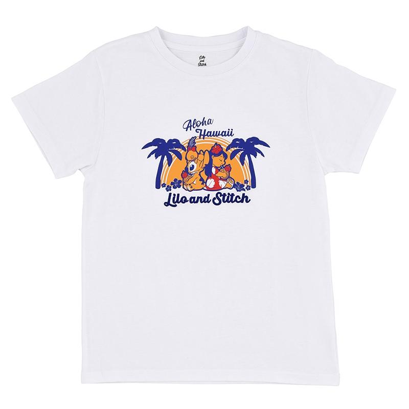 【アウトレット】半袖Tシャツ(M) リロ&スティッチ Hawaiian Stitch
