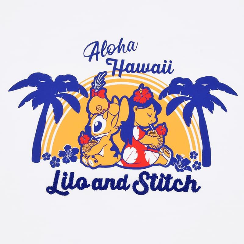 半袖Tシャツ(L) リロ&スティッチ Hawaiian Stitch