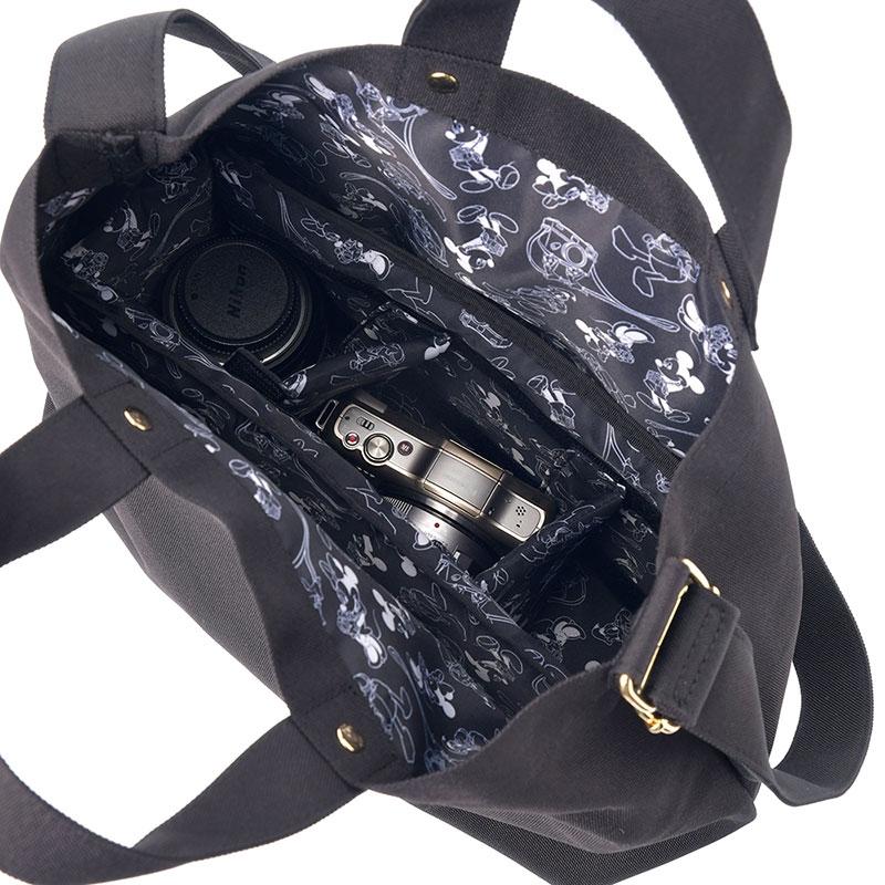 ミッキー トートバッグ カメラ用 2WAY CAMERA