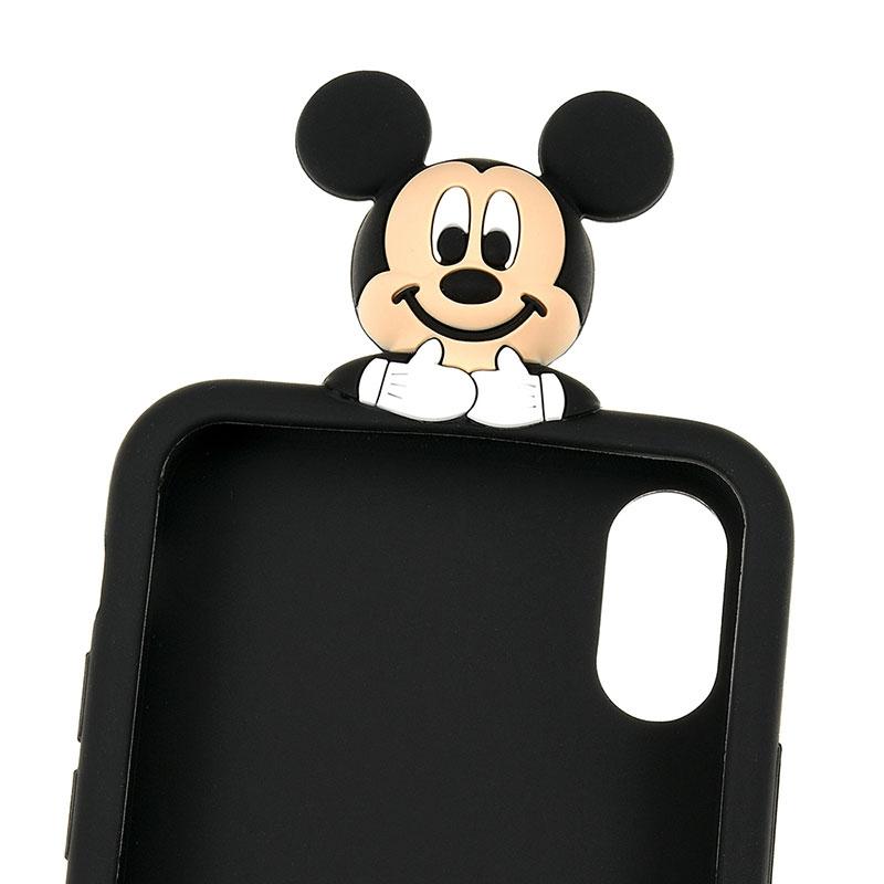 ミッキー iPhone X/XS用スマホケース・カバー のぞき