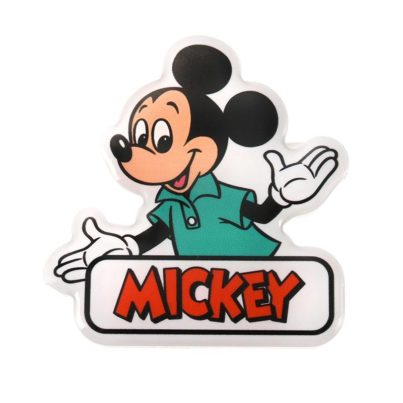 ミッキー バッジ クリップ付き retro