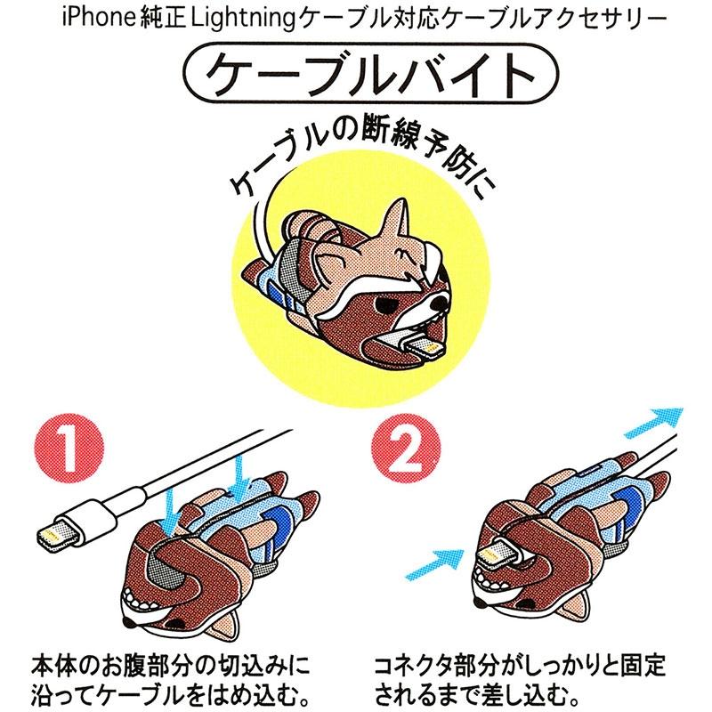 マーベル ロケット ケーブルバイト iPhone専用