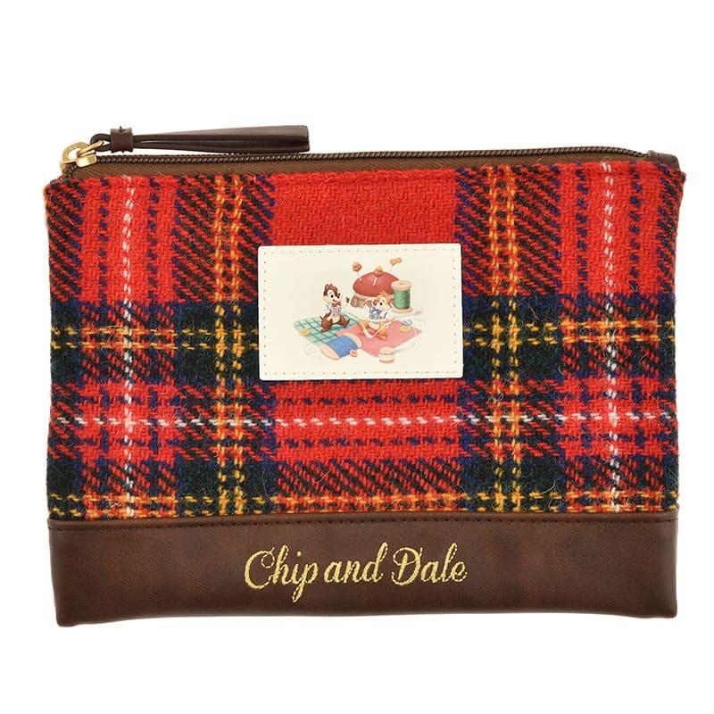 チップ&デール ポーチ フラット ハリスツイード Chip&Dale Autumn Collection