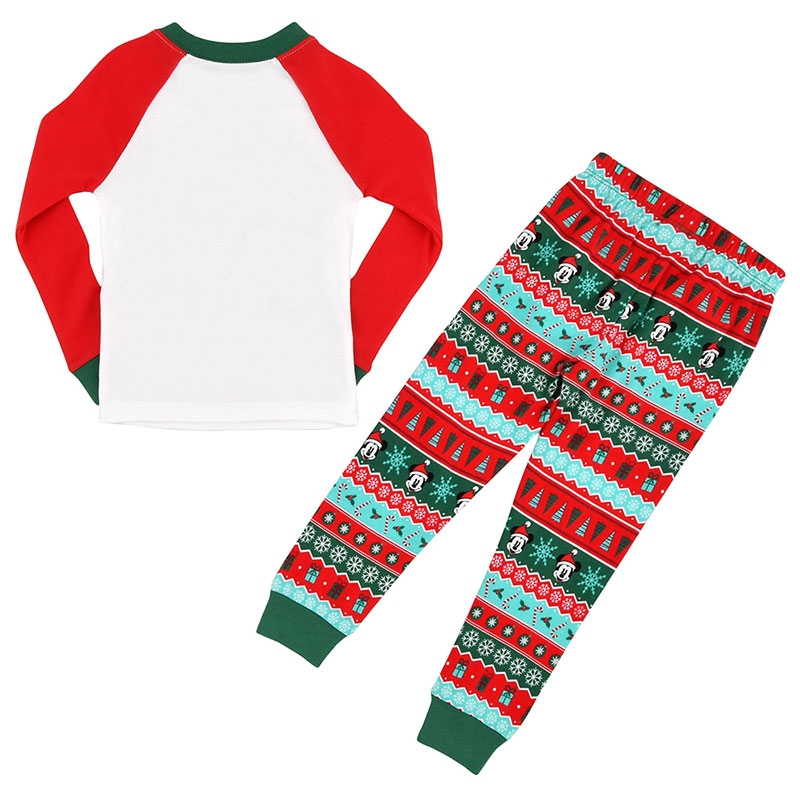 ミッキー、プルート、ドナルド キッズ用長袖パジャマ(100) Disney Christmas