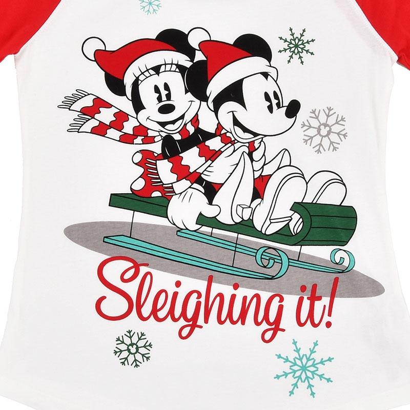 ミッキー&ミニー レディース用長袖パジャマ(M) Disney Christmas