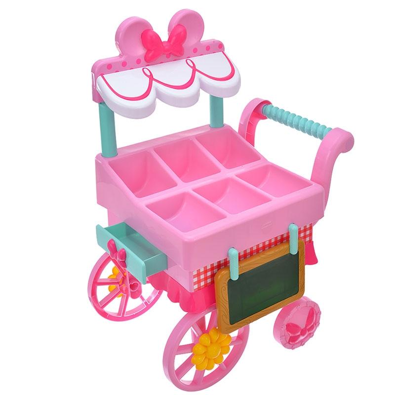 ミニー おもちゃ フラワーカートセット