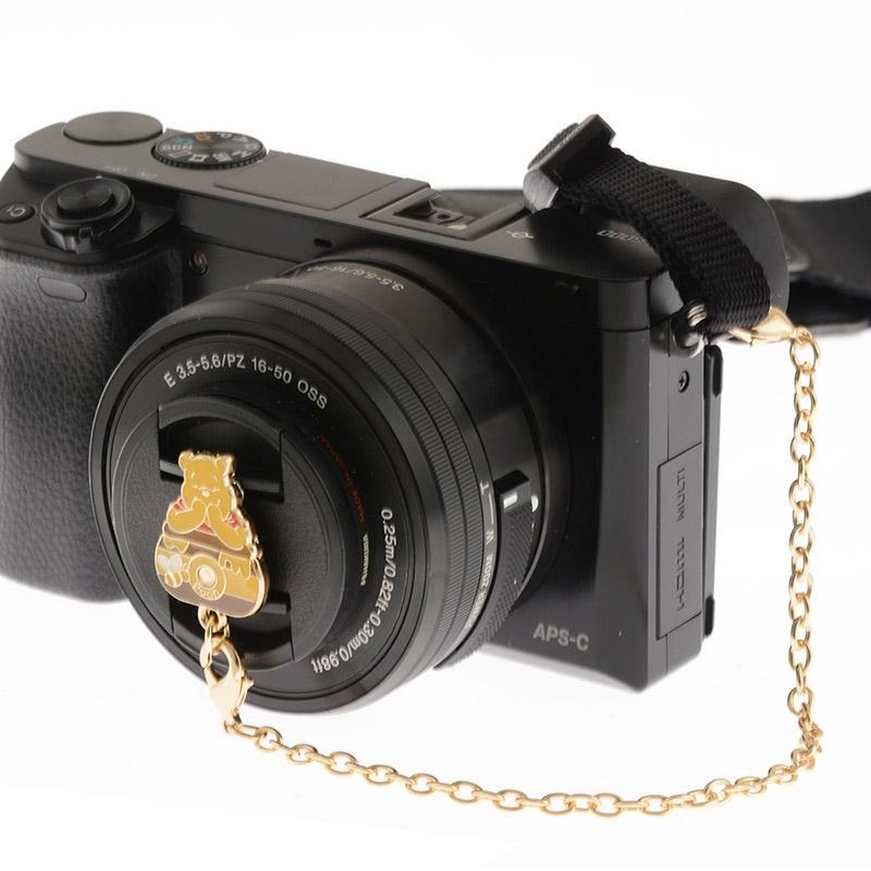 レンズキャップストラップ プーさん レトロカメラ