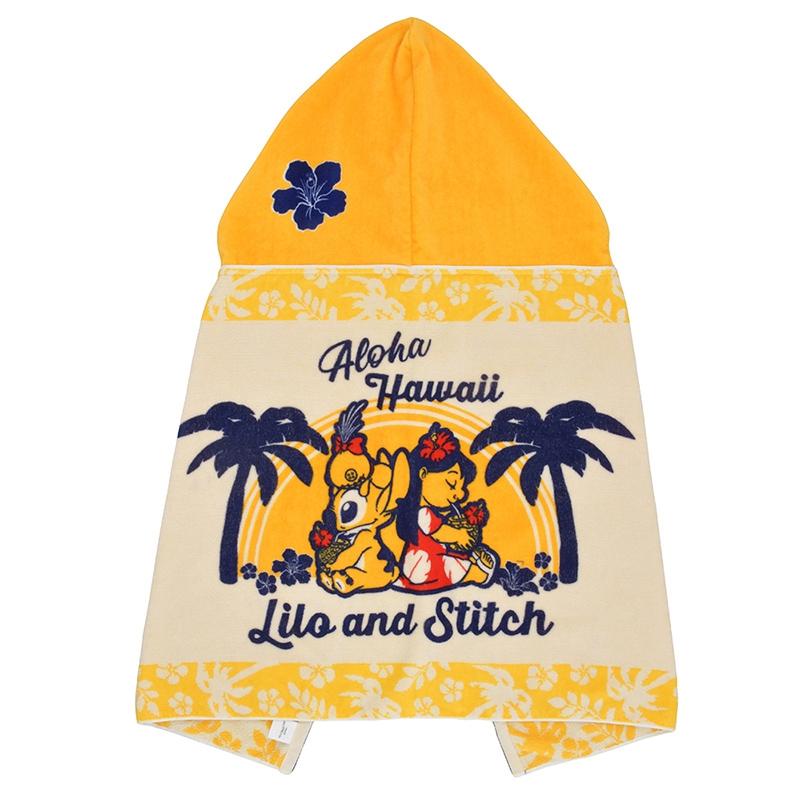 【アウトレット】タオル フード付き リロ&スティッチ Hawaiian Stitch