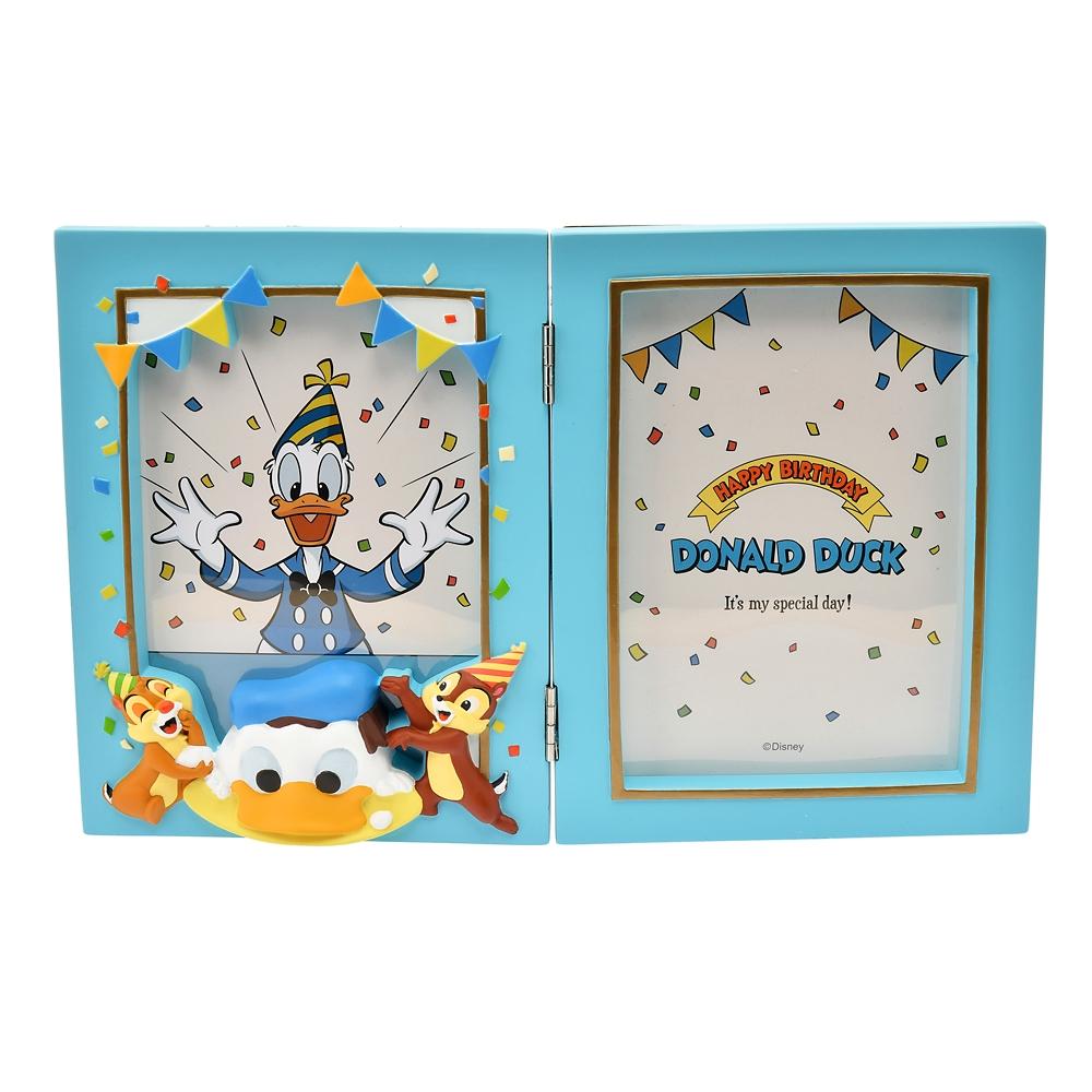 ドナルド、チップ&デール フォトフレーム Donald Duck Birthday 2020