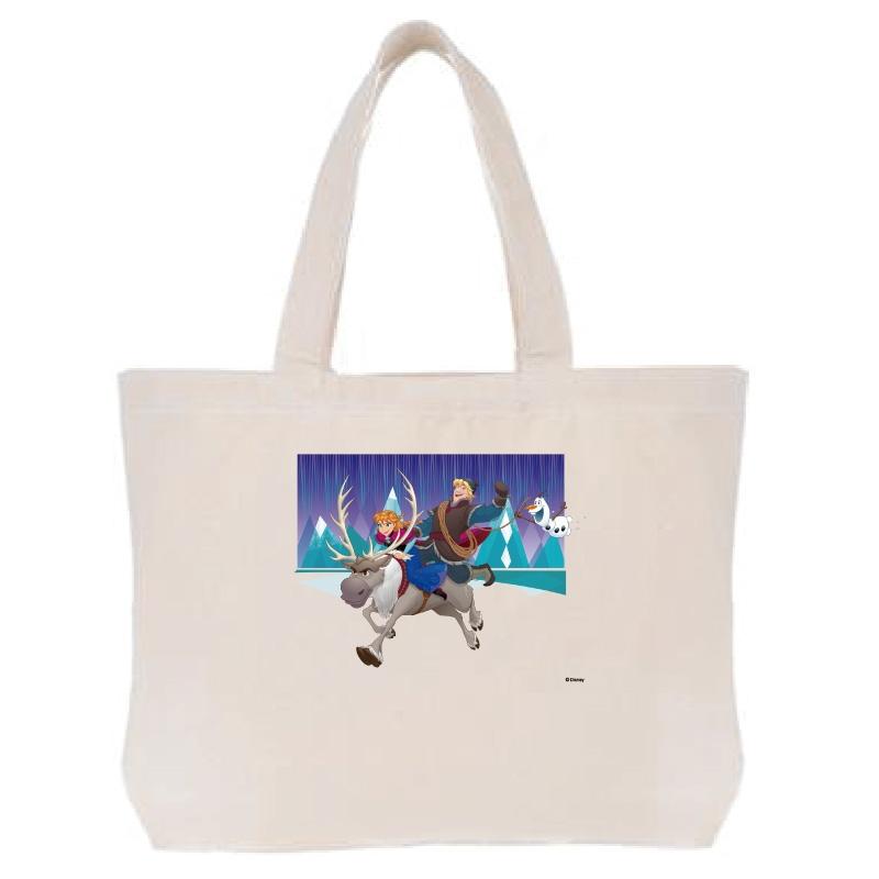 【D-Made】トートバッグ  アナと雪の女王 アナ&クリストフ&スヴェン