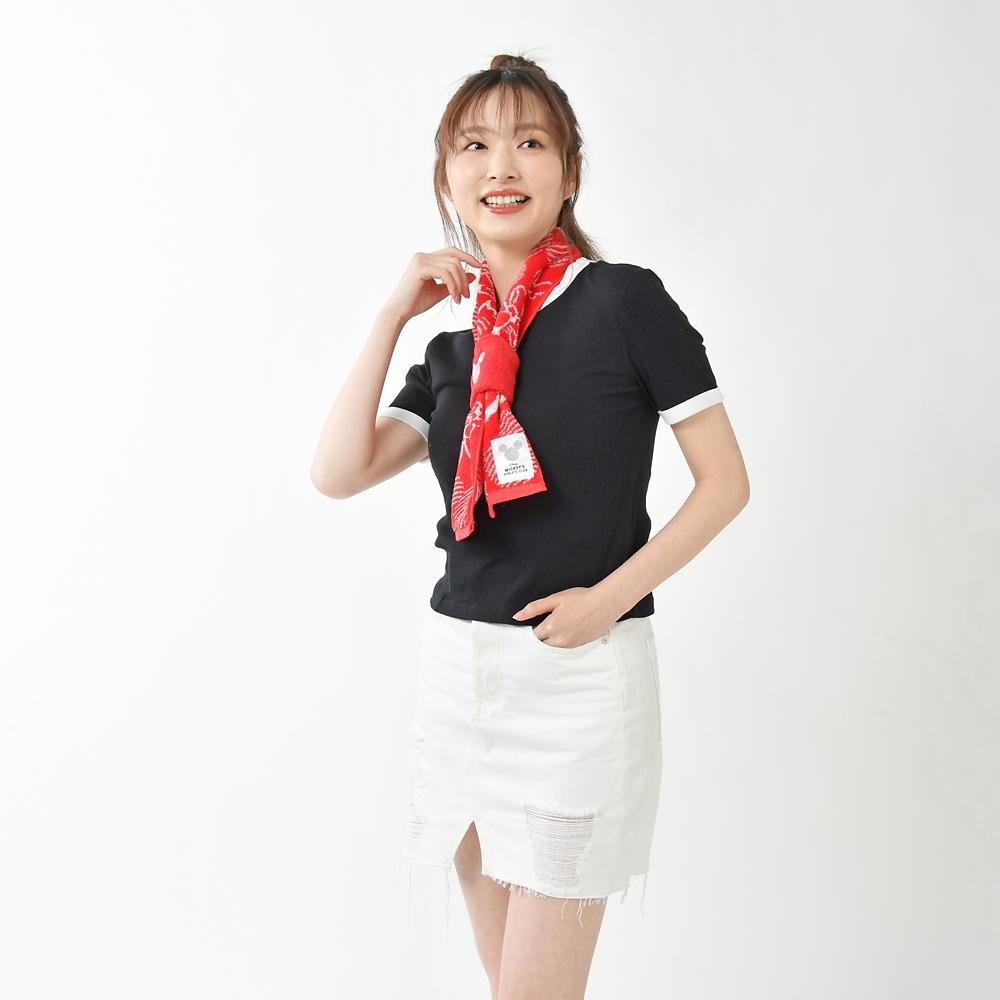 ミッキー&ミニー タオルマフラー リストバンド付き Mickeys Athlete Club