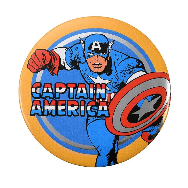 マーベル キャプテン・アメリカ 缶バッジ American Vintage For 80th Anniversary