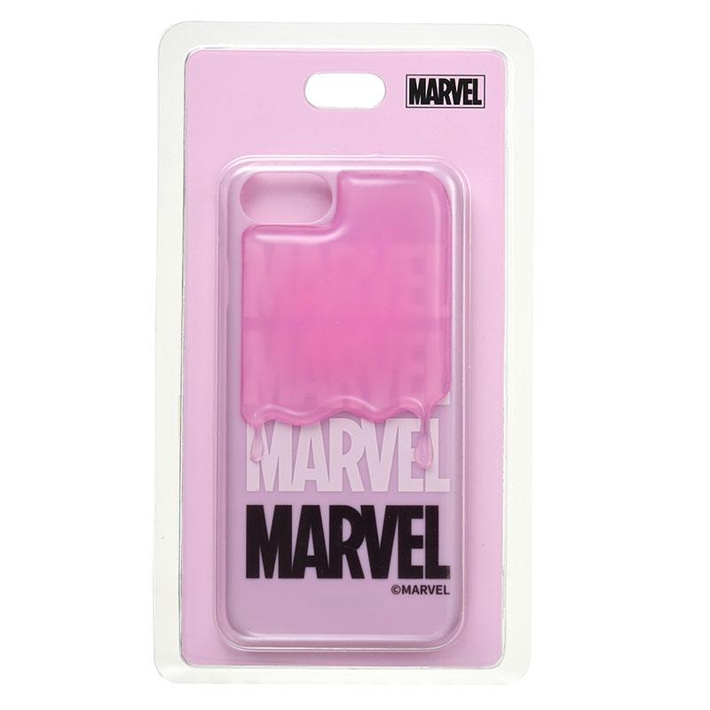 マーベル iPhone 6/6s/7/8用スマホケース・カバー ロゴ ドリッピング PINK