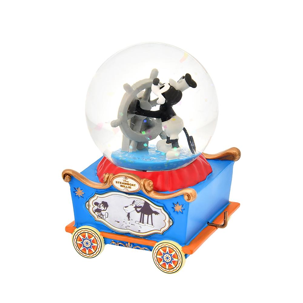 ミッキー スノードーム ミニ トロッコ 蒸気船ウィリー