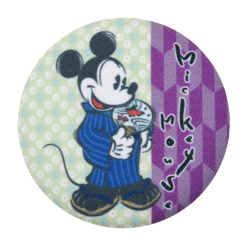【アウトレット】ミッキー 缶バッジ ちりめん Japan Culture