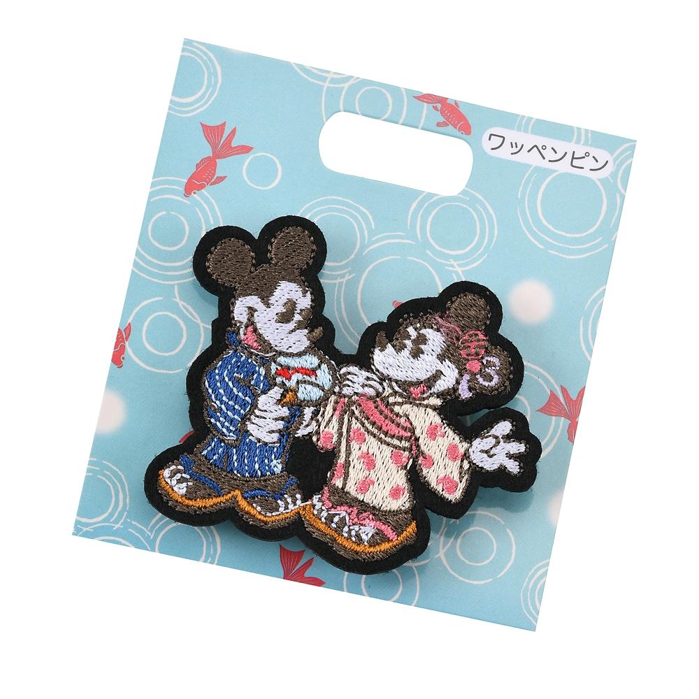 ミッキー&ミニー ピンバッジ 刺しゅう Japan Culture