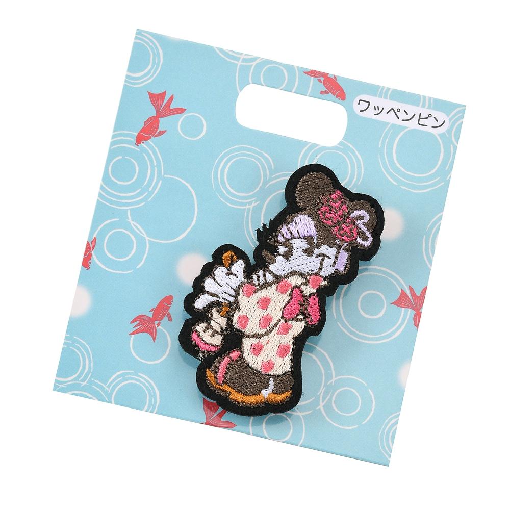 【アウトレット】ミニー ピンバッジ 刺しゅう Japan Culture