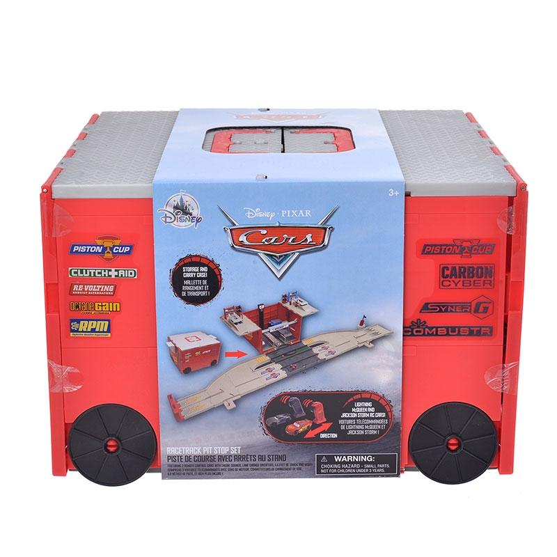 ライトニング・マックィーン&ジャクソン・ストーム おもちゃ レーストラック・ピットストップセット
