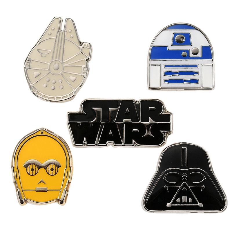 【アウトレット】スター・ウォーズ C-3PO、R2-D2、ダース・ベイダー ピンバッジ セット スター・ウォーズ/スカイウォーカーの夜明け