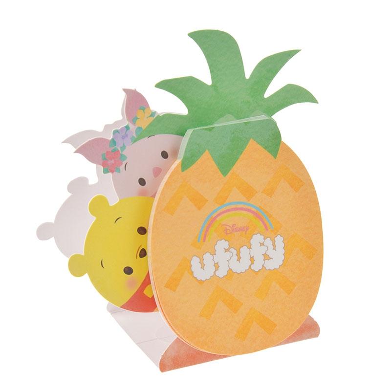 Disney ufufy(ウフフィ) メモ帳 スタンド式 プーさん&ピグレット フルーツ サマー