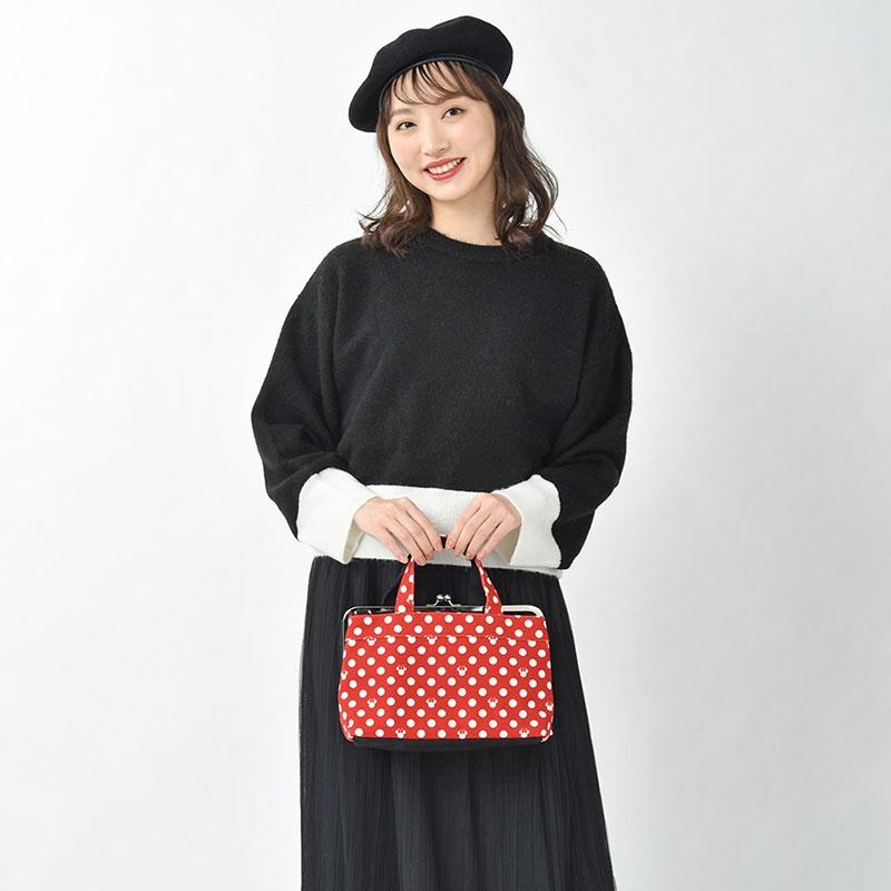 【AYANOKOJI】ミニー ハンドバッグ がまぐち ドット