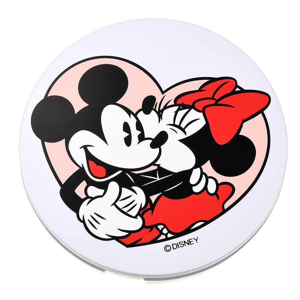 ミッキー&ミニー ハンドミラー・手鏡 LED ハートピンク