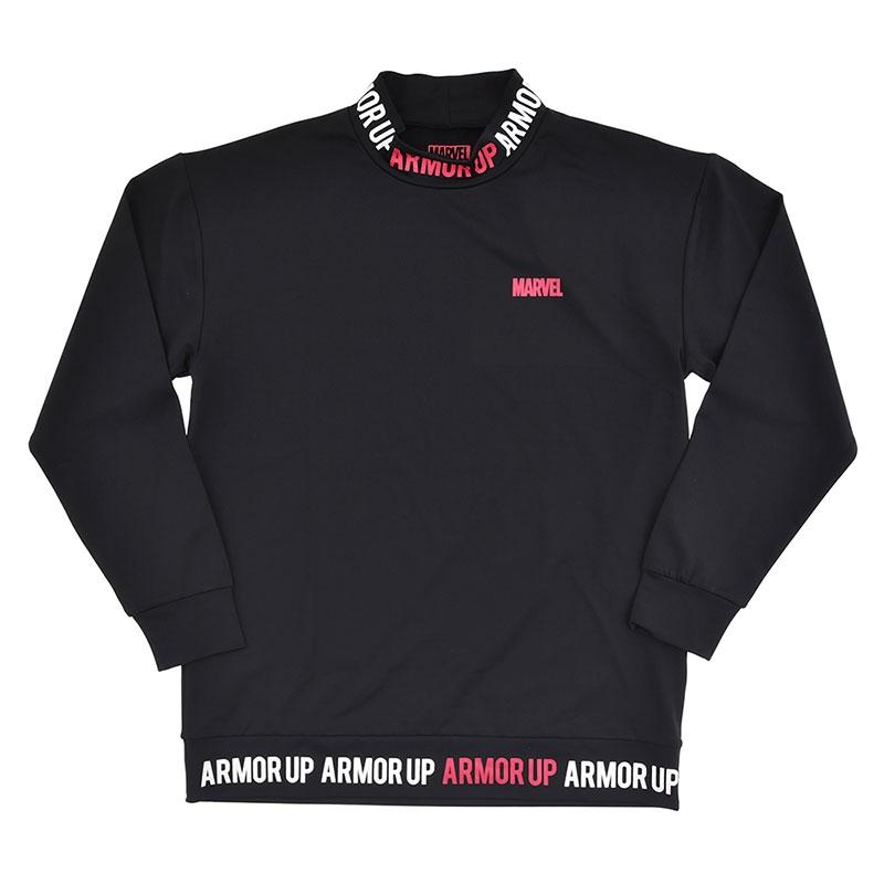 マーベル 長袖Tシャツ ロゴ ブラック HERO