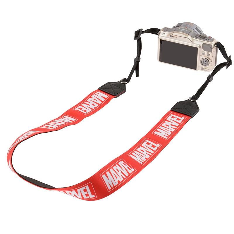 カメラストラップ マーベル ロゴ レッド ワンカラー