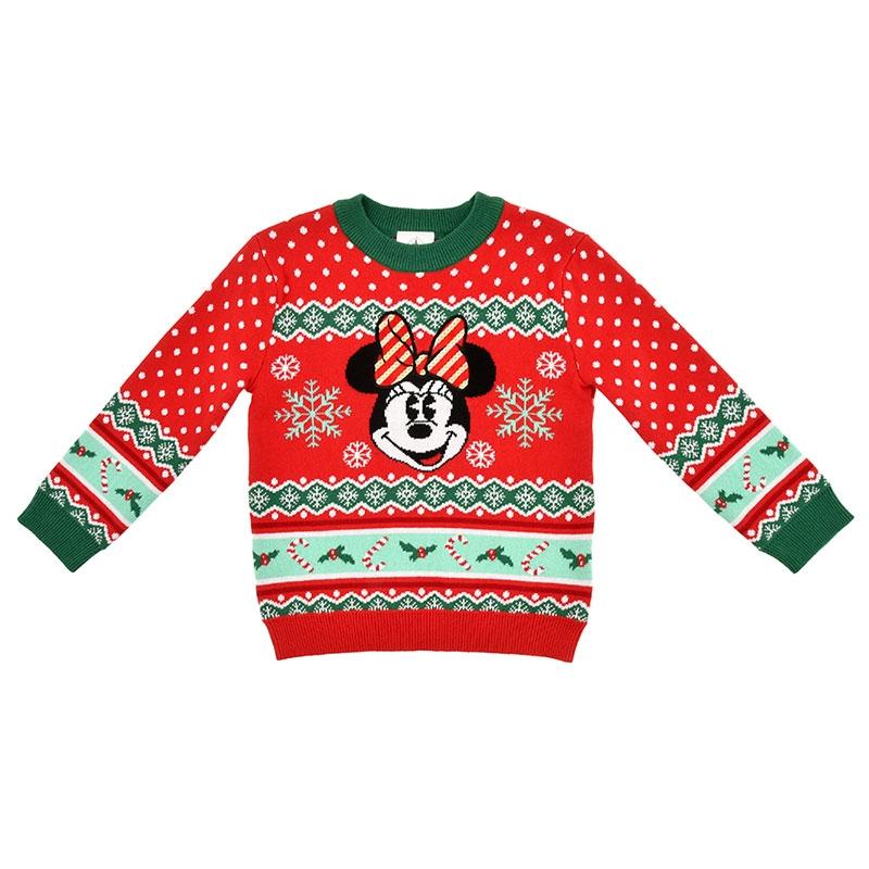 ミニー キッズ用セーター(100) Disney Christmas