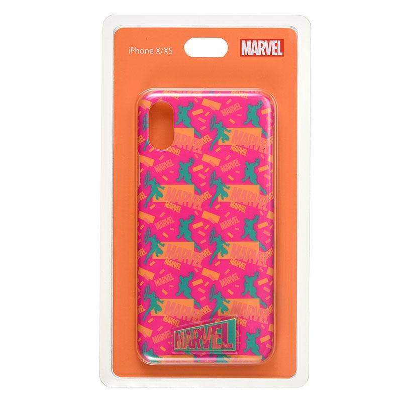 【アウトレット】マーベル アイアンマン、キャプテン・アメリカ iPhone X/XS用スマホケース・カバー ロゴ Vivid