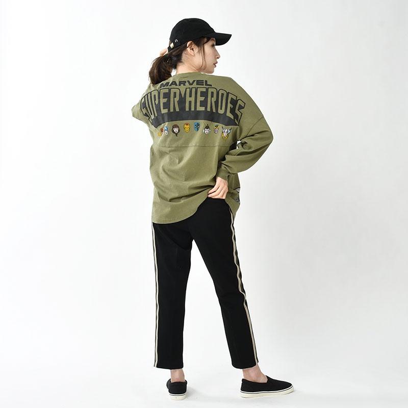 【Spirit Jersey】マーベル 長袖Tシャツ(L) American Vintage For 80th Anniversary