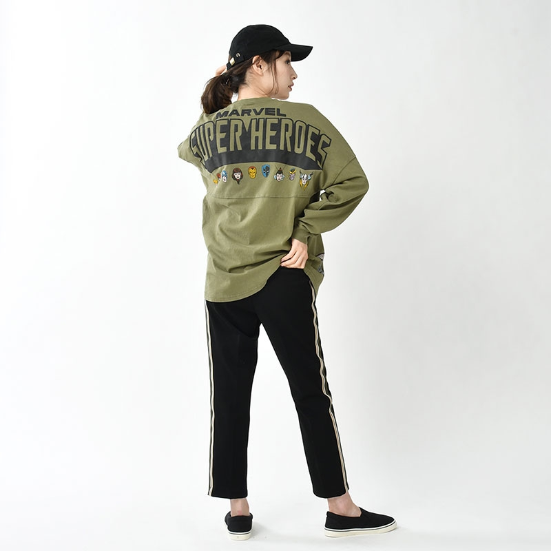 【Spirit Jersey】マーベル 長袖Tシャツ(XL) American Vintage For 80th Anniversary