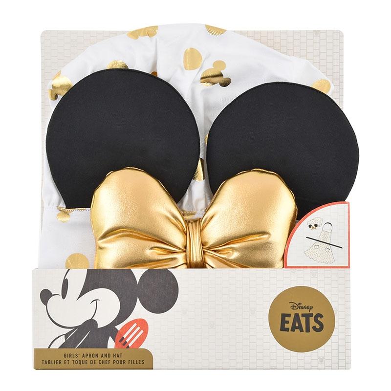 ミニー キッズ用エプロン セット ゴールド Disney Eats