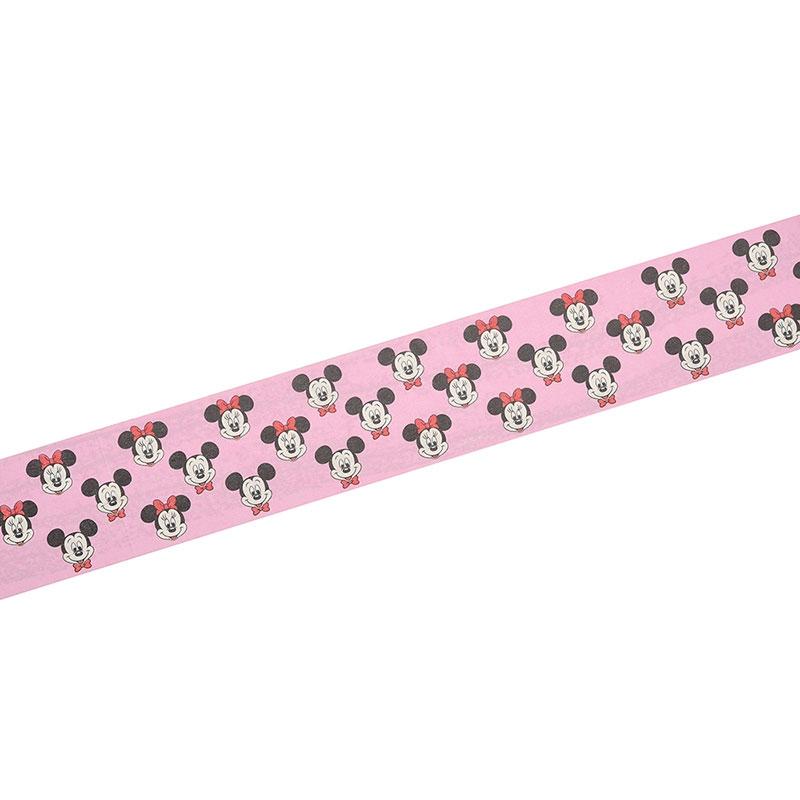 ミッキー&ミニー デコレーションテープ ピンク フェイス