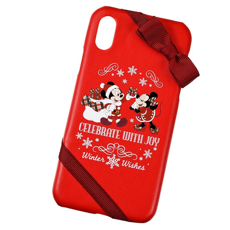 【アウトレット】ミッキー&ミニー iPhone X/XS用スマホケース・カバー Disney Christmas