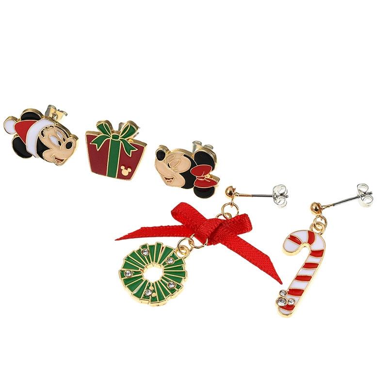 ミッキー&ミニー ピアス セット Disney Christmas