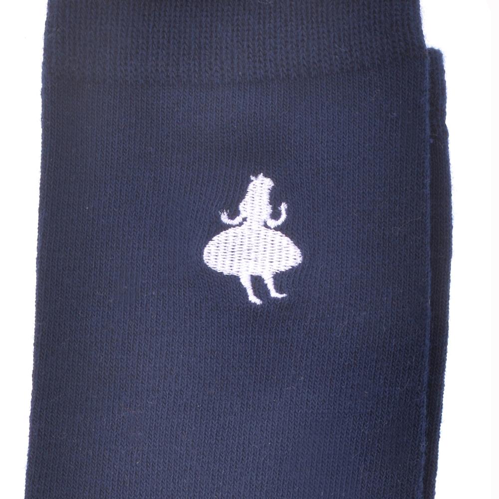 アリス 靴下 シルエットホワイト