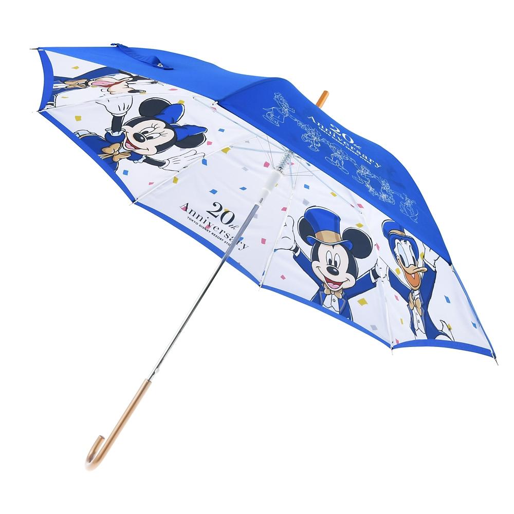ミッキー&フレンズ 傘 ジャンプ式 TOKYO DISNEY RESORT STORE 20th Anniversary