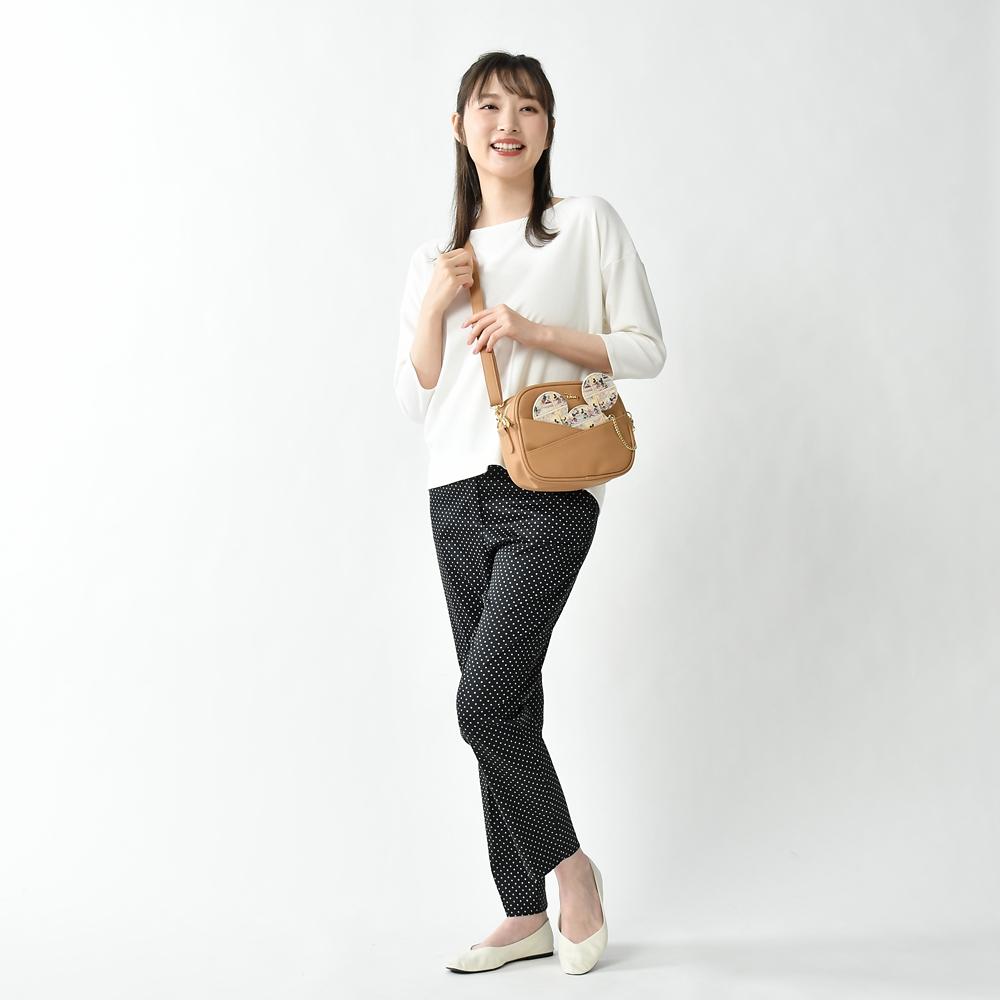 ミッキー ショルダーバッグ アイコン型ケース付き Shoulder&Body Bag