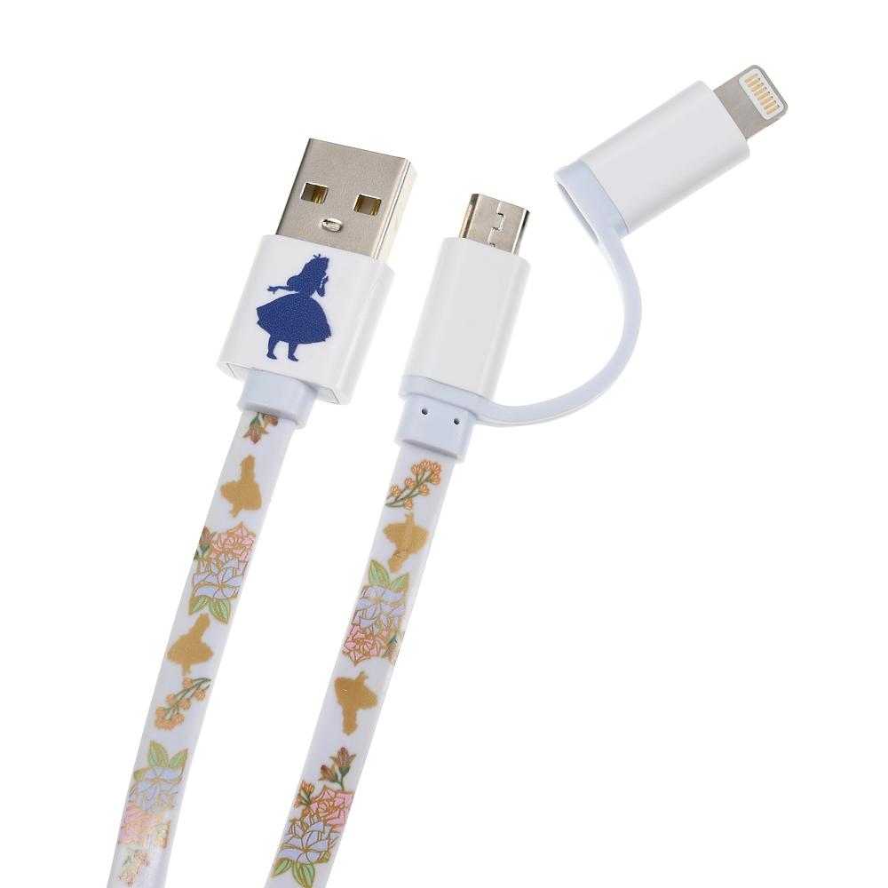 アリス iPhone用USBコード 2in1 フェミニンフラワー