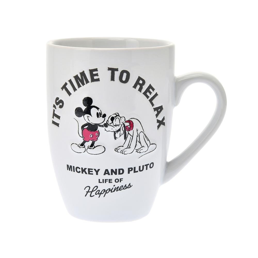 ミッキー&プルート マグカップ IT´S TIME TO RELAX