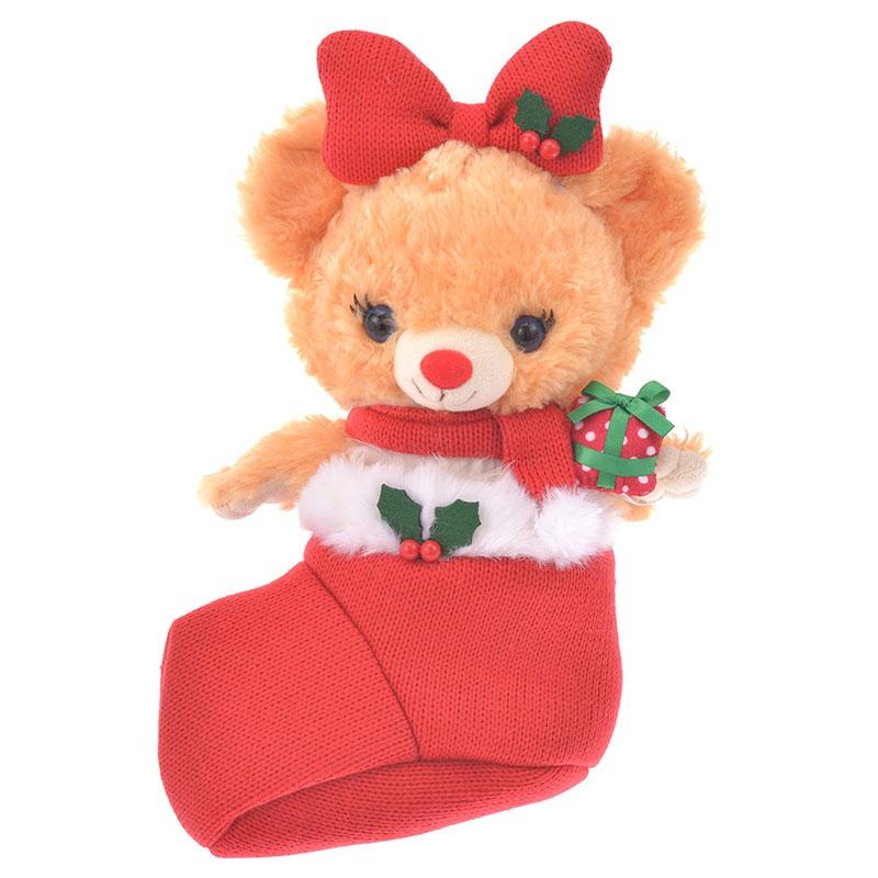ユニベアシティ ぬいぐるみ専用コスチューム クリスマス ニット 靴下 ガール