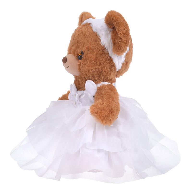 ユニベアシティ ぬいぐるみ専用コスチューム ドレス Pure White