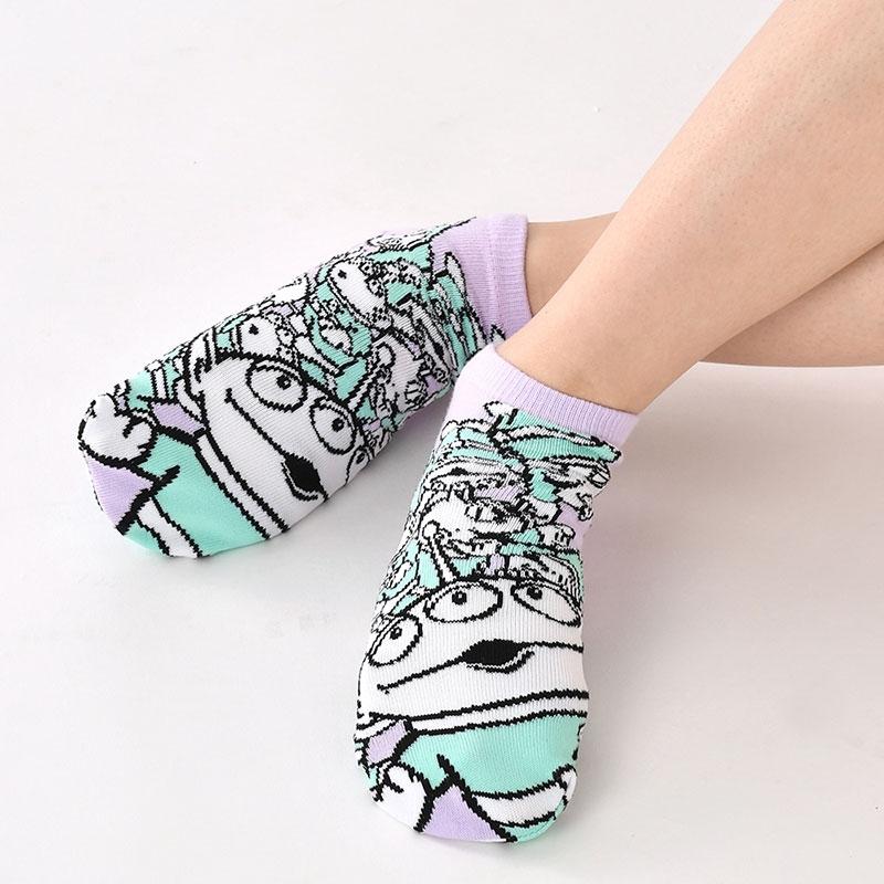 リトル・グリーン・メン/エイリアン 靴下 くるぶし シャーベットカラー