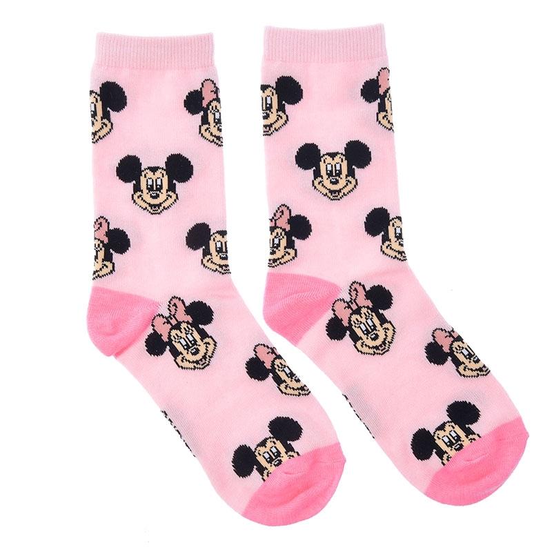 ミッキー&ミニー 靴下 フェイス