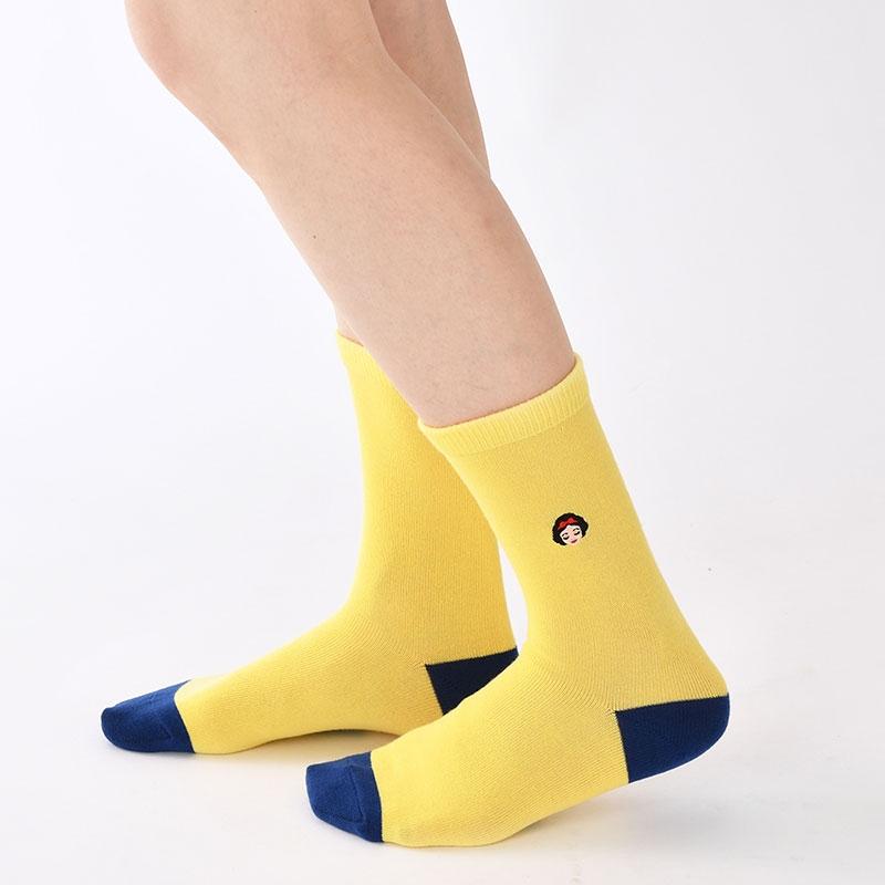 白雪姫 靴下 ツートン アイコン