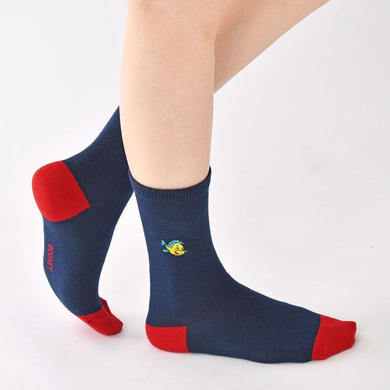 フランダー&セバスチャン 靴下 ツートン アイコン