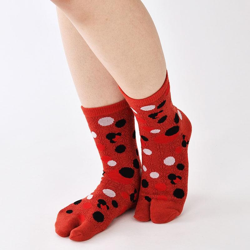 ミニー 靴下 水玉 足袋 和柄