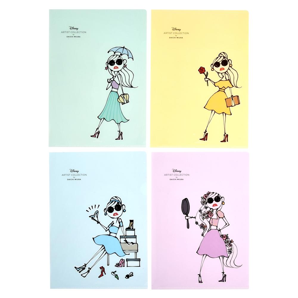 クリアファイル グリーン、イエロー、ブルー、パープル Daichi Miura Princess
